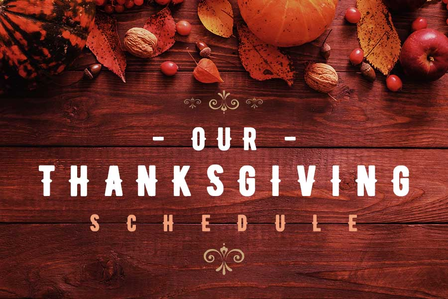 InCare's Thanksgiving Schedule